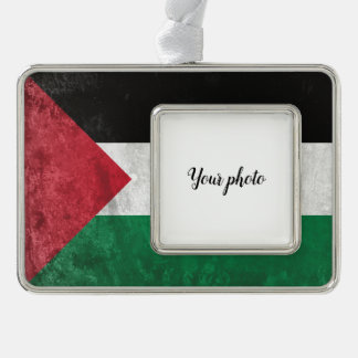 Palestine Silver Plated Framed Ornament