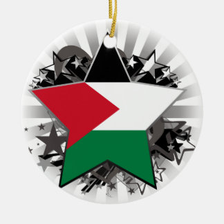 Palestine Star Ceramic Ornament