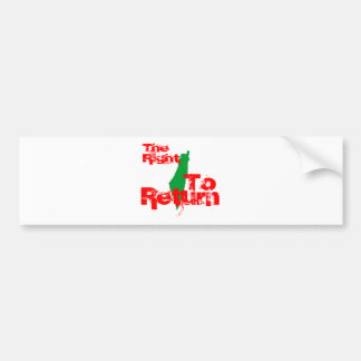Palestine: The RIght To Return Bumper Sticker