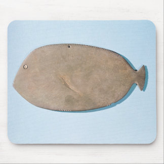 Palette in the shape of a fish mouse pad