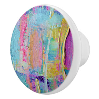 Palette Knife Paint Ceramic Knob