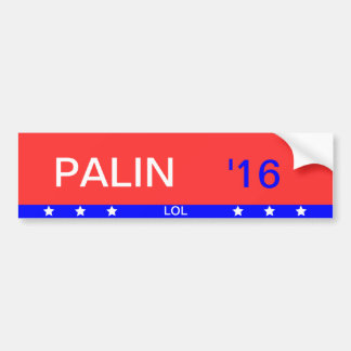 """Palin '16"" Bumper Sticker"