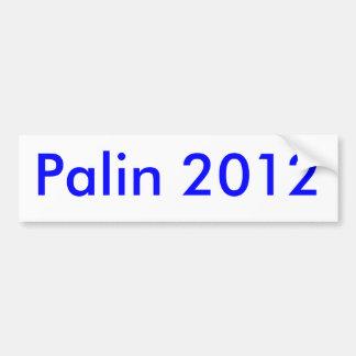 Palin 2012 car bumper sticker