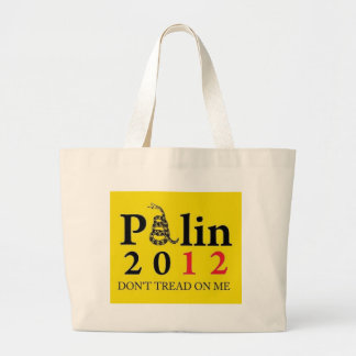 Palin 2012 Don't Tread On Me Canvas Bags