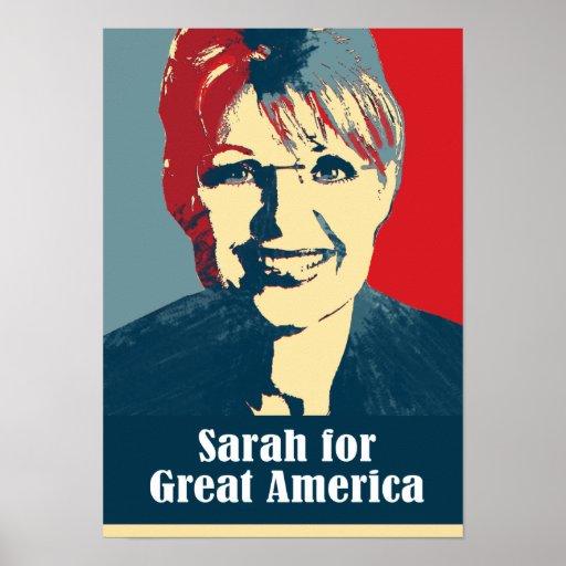 Palin 2012 - Sarah for Great America Poster