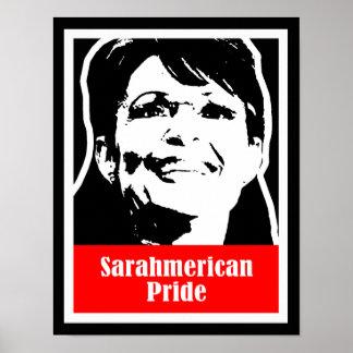 Palin 2012 - Sarahmerican Pride Poster