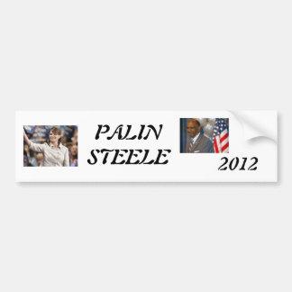 palin 2012, steele 1, 2012, PALINSTEELE Bumper Sticker