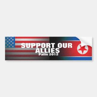 Palin 2012 - Support our allies Bumper Sticker