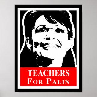 Palin 2012 - TEACHERS FOR PALIN Print
