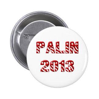 Palin 2013 Red 6 Cm Round Badge
