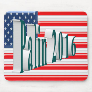 PALIN 2016 Mouse Pad, Blue-Green 3D, Old Glory