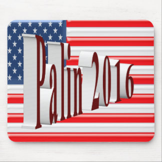 PALIN 2016 Mouse Pad, Burgundy 3D, Old Glory