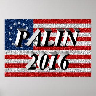 PALIN 2016 Poster, Black 3D, Betsy Ross