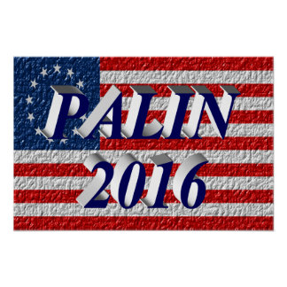 PALIN 2016 Poster, Blue 3D, Betsy Ross Poster