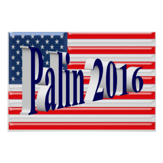 PALIN 2016 Poster, Blue 3D, Old Glory