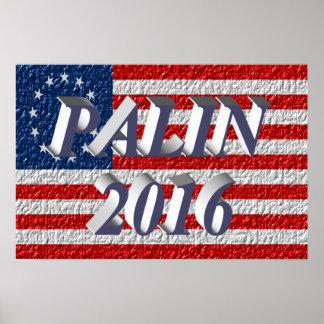 PALIN 2016 Poster, Blue-Gray 3D, Betsy Ross