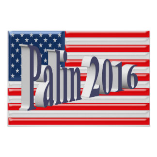 PALIN 2016 Poster, Blue-Gray 3D, Old Glory