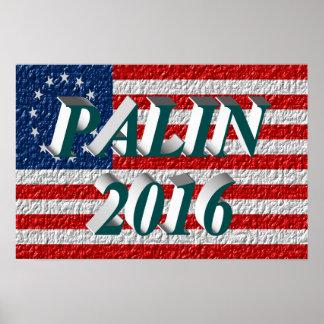 PALIN 2016 Poster, Blue-Green 3D, Betsy Ross