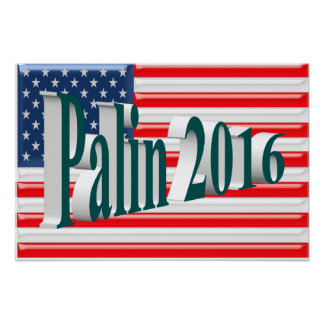 PALIN 2016 Poster, Blue-Green 3D, Old Glory