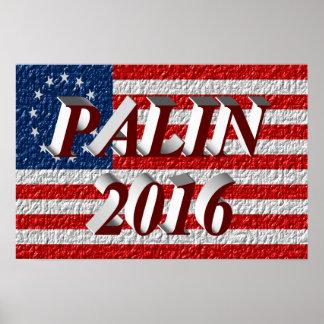 PALIN 2016 Poster, Burgundy 3D, Betsy Ross