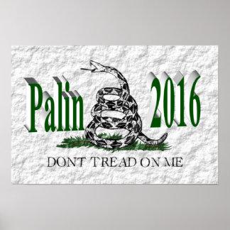 PALIN 2016 Poster, Green 3D, White Gadsden
