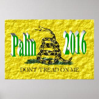PALIN 2016 Poster, Light Green 3D, Gadsden