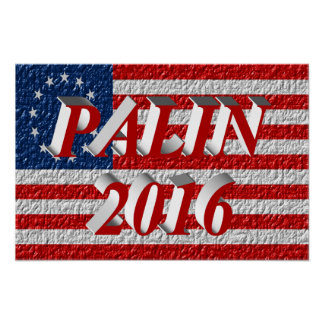 PALIN 2016 Poster, Light Red 3D, Betsy Ross Poster