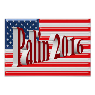 PALIN 2016 Poster, Red 3D, Old Glory