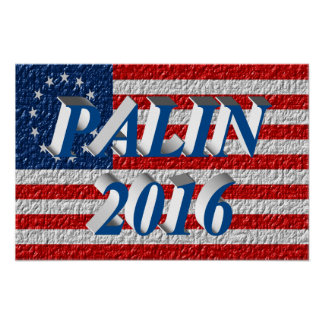 PALIN 2016 Poster, Sea Blue 3D, Betsy Ross Poster