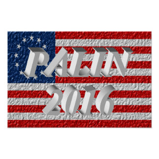 PALIN 2016 Poster, White 3D, Betsy Ross