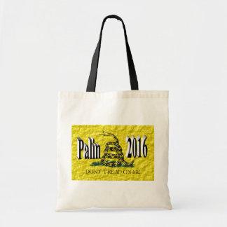 PALIN 2016 Tote Bag, Black 3D, Gadsden