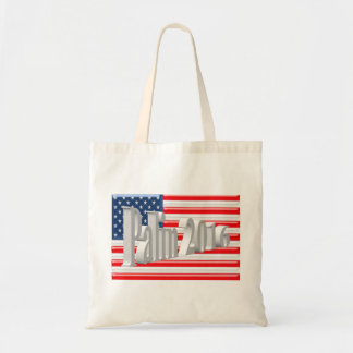 PALIN 2016 Tote Bag, White 3D, Old Glory