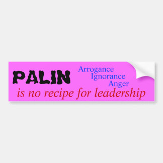 Palin Bumper Sticker
