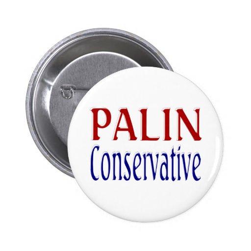 Palin Conservative Button 2