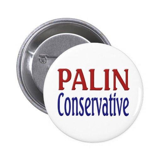 Palin Conservative Button Button