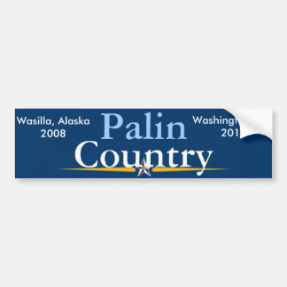 Palin Country. Bumper Sticker