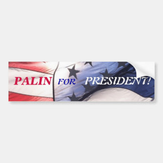 PALIN FOR PRESIDENT BUMPER STICKER