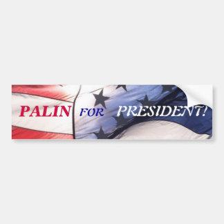 PALIN FOR PRESIDENT BUMPER STICKER