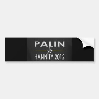 Palin/Hannity2012 Bumper Stickers