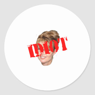 Palin Idiot Stickers