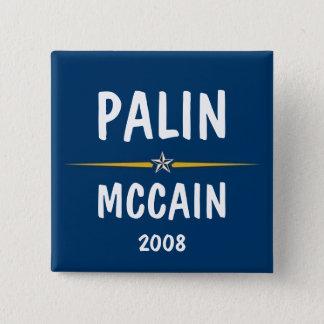 Palin - McCain 15 Cm Square Badge