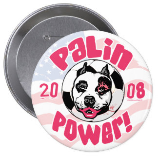 Palin Power Soccer Mom 10 Cm Round Badge