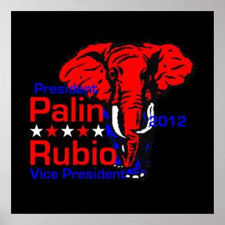Palin Rubio 2012 POSTER Print