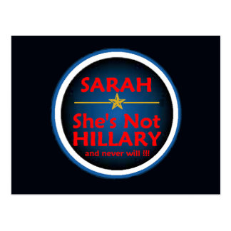 Palin VP HILLARY Postcard