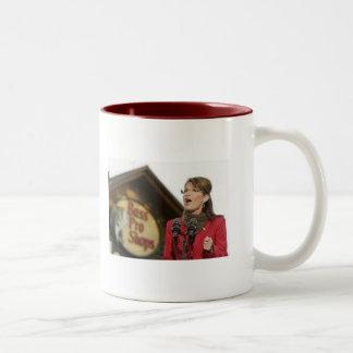 "PalinBassPro, ""Let's reel in a big one.""- Sarah... Two-Tone Coffee Mug"