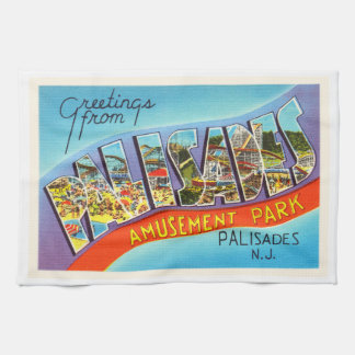Palisades New Jersey NJ Vintage Travel Postcard- Tea Towel