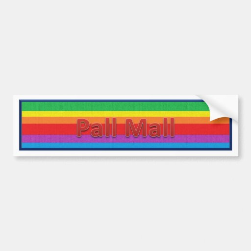 Pall Mall Style 3 Bumper Stickers