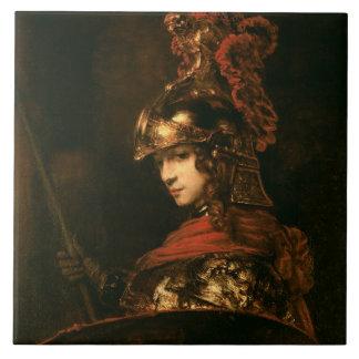 Pallas Athena or, Armoured Figure, 1664-65 Tile