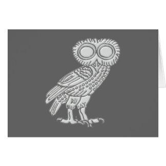 Pallas Athene Athena owl owl Card
