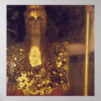 Pallas Athene by Gustav Klimt Print